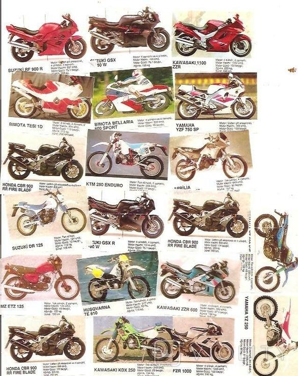20 вкладышей мотоциклы