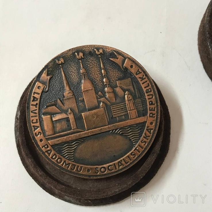 Настольная медаль Латвия, фото №5