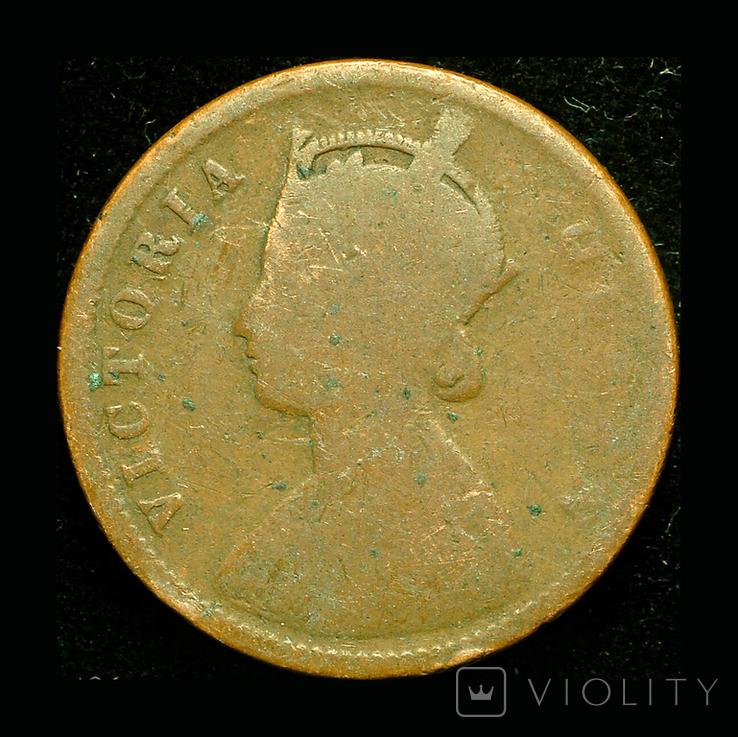 Британская Индия 1/4 анны 1878, фото №2