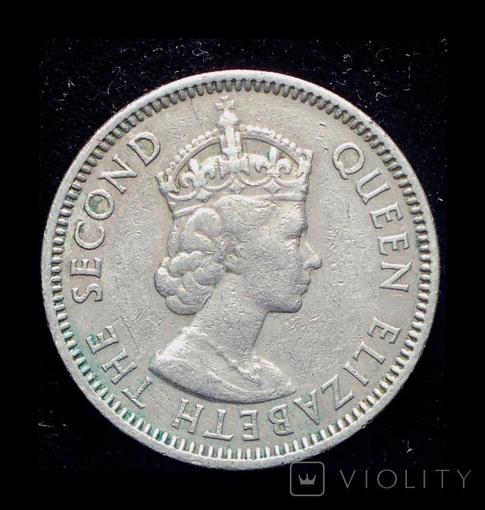 Британские Карибы 25 центов 1965, фото №3