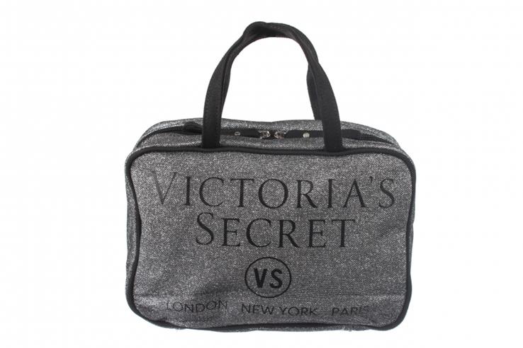 Косметичка дорожная серая блестящая Victoria's secret, фото №2