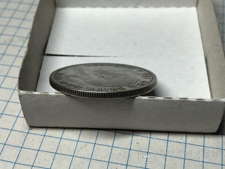 Пол кроны 1928 года Великобритания серебро, фото №4