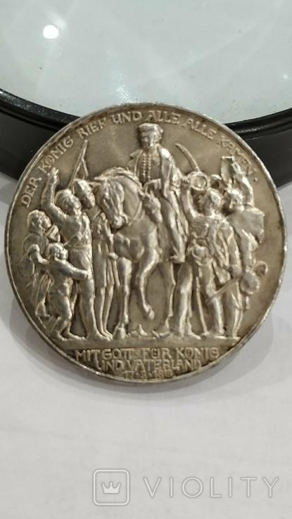3 марки 1913 г. 100 летие Битвы Народов., фото №8