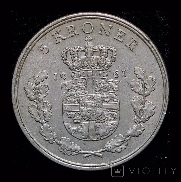 Дания 5 крон 1961, фото №2