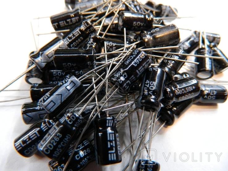 Конденсаторы электролитические 47мкФ - 65шт., фото №4