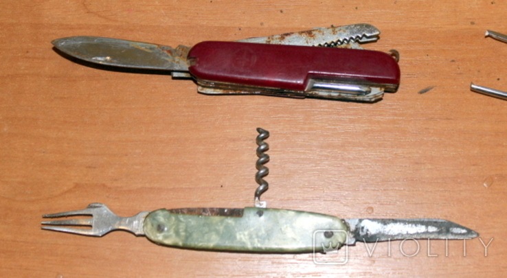 Нож времен СССР и швейцарский (на реставрацию-доноры), фото №2