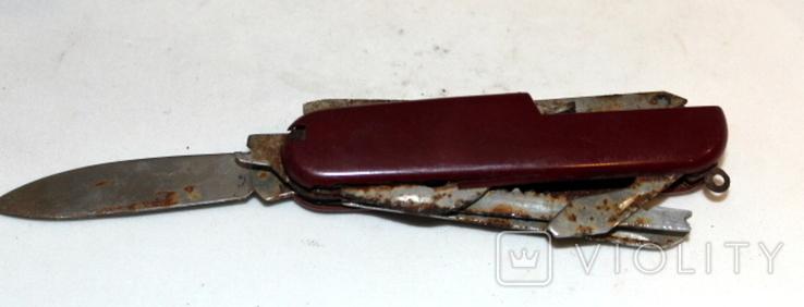 Нож времен СССР и швейцарский (на реставрацию-доноры), фото №9