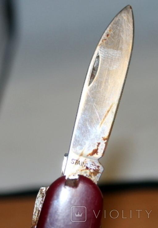 Нож времен СССР и швейцарский (на реставрацию-доноры), фото №13