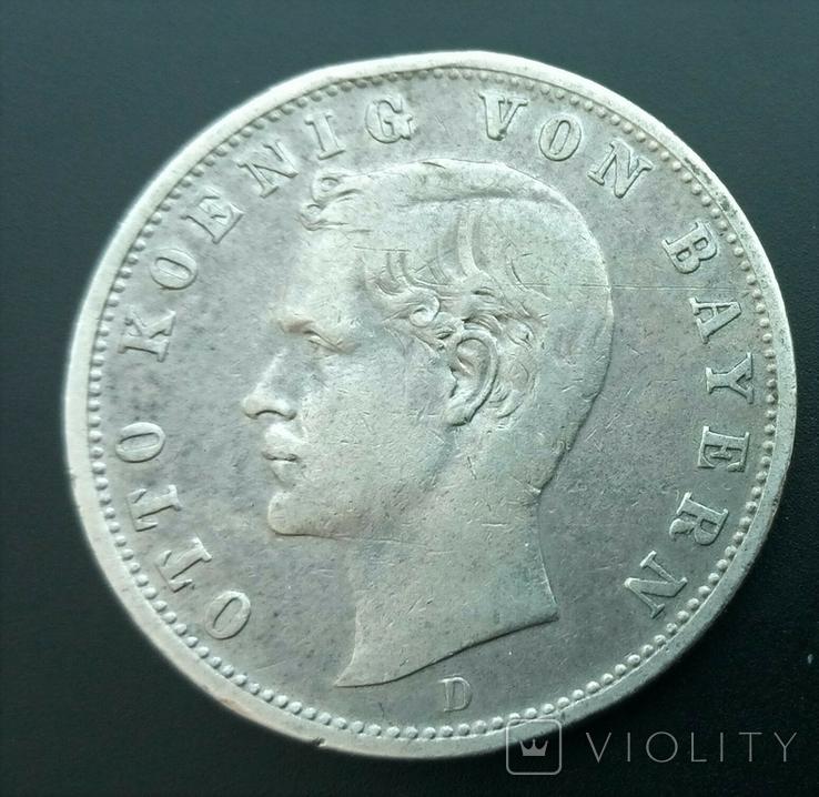 2 марки 1901 Баварія, фото №2