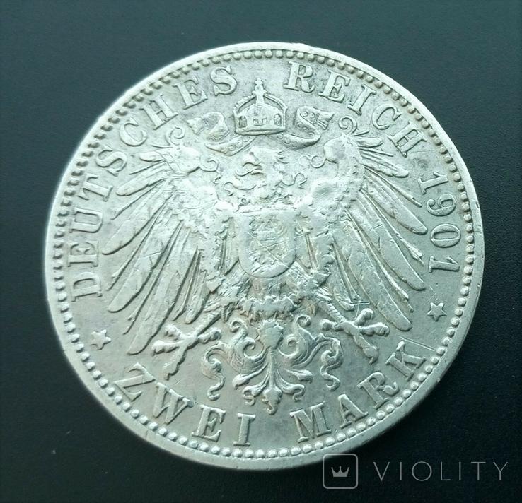 2 марки 1901 Баварія, фото №3