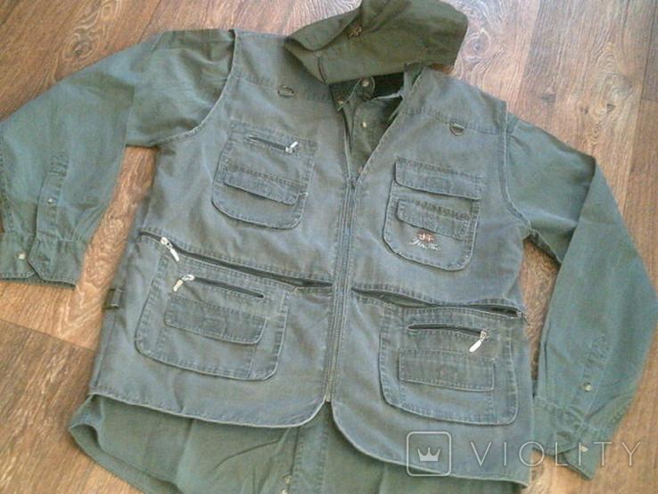 Комплект охотника - (жилетка ,рубашка ,кепи), фото №3