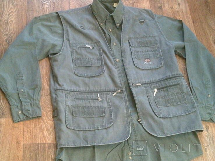 Комплект охотника - (жилетка ,рубашка ,кепи), фото №2