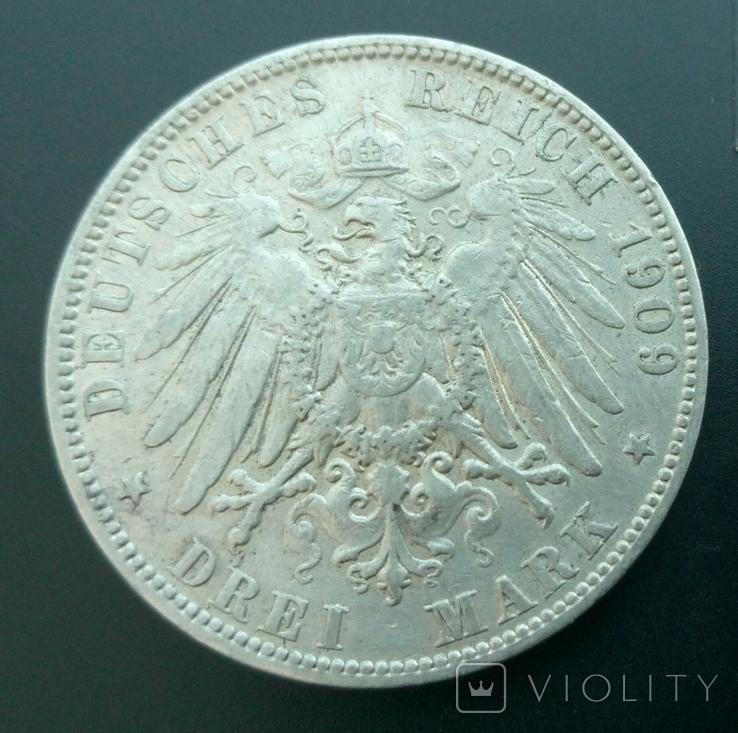 3 марки 1909 Гамбург, фото №3