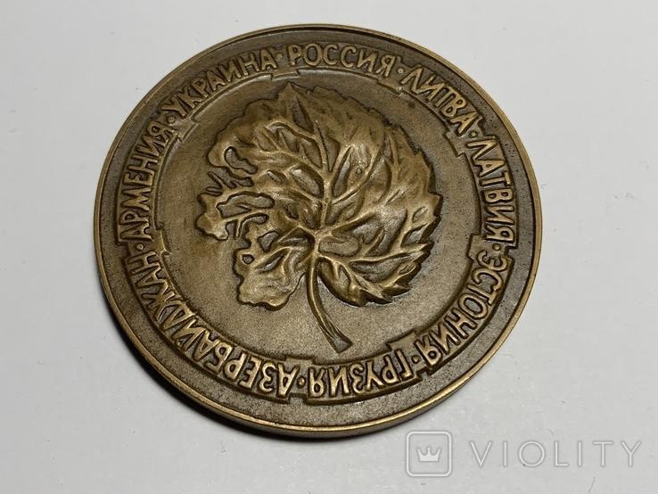 """Настольная медаль """"Славутич, 1986"""", фото №3"""