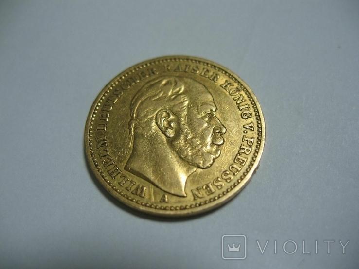20 марок 1883 Германия Вильгельм, фото №3