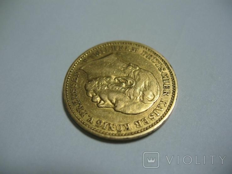 20 марок 1883 Германия Вильгельм, фото №4