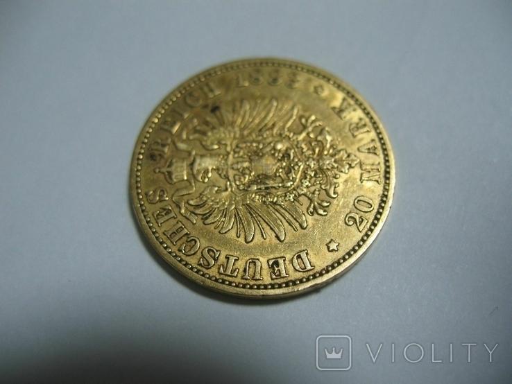 20 марок 1883 Германия Вильгельм, фото №9