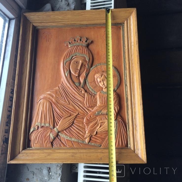 Деревяна ікона св Богородиці, фото №6