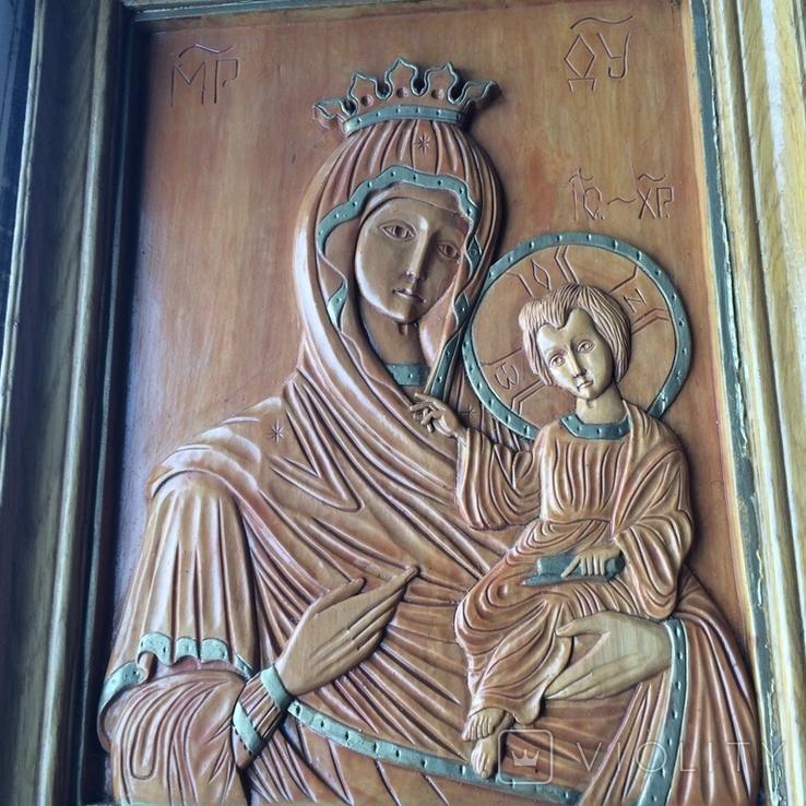 Деревяна ікона св Богородиці, фото №8