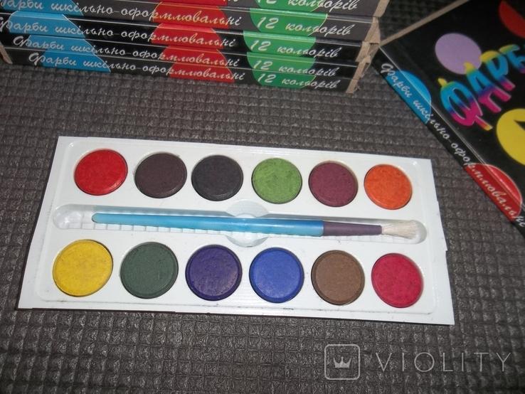 Краски 12 цветов.10 упаковок., фото №4