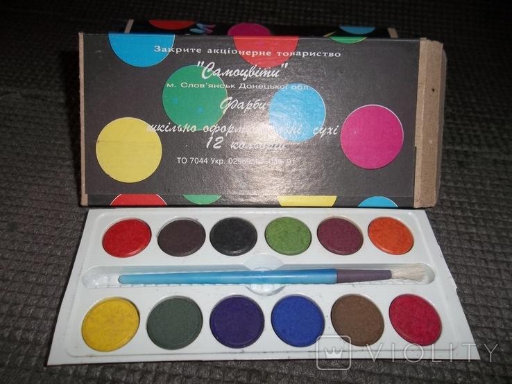 Краски 12 цветов.4 упаковки., фото №4