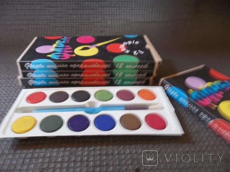 Краски 12 цветов.4 упаковки., фото №8