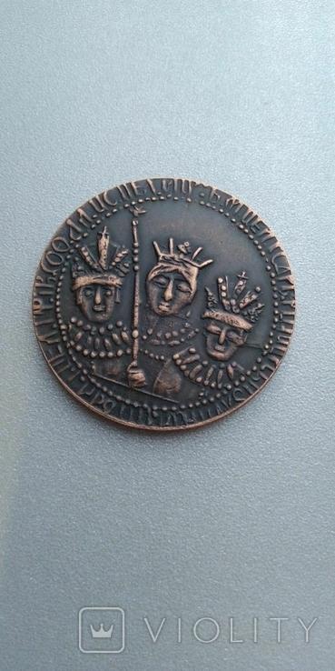 Рубль Царевна Софья 1683 год медный сплав копия, фото №2