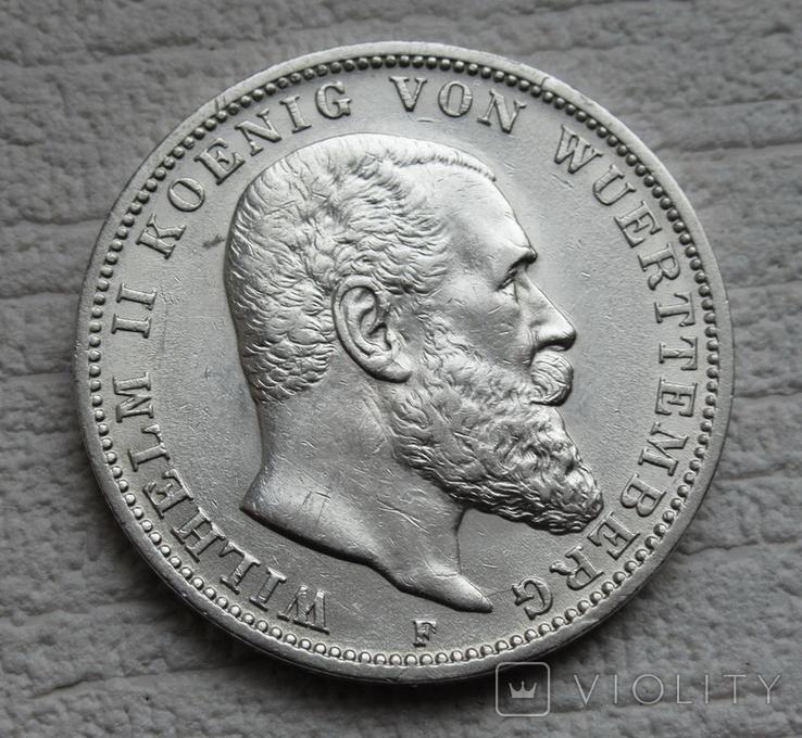 3 марки 1912 г., Вюртемберг, серебро, фото №5