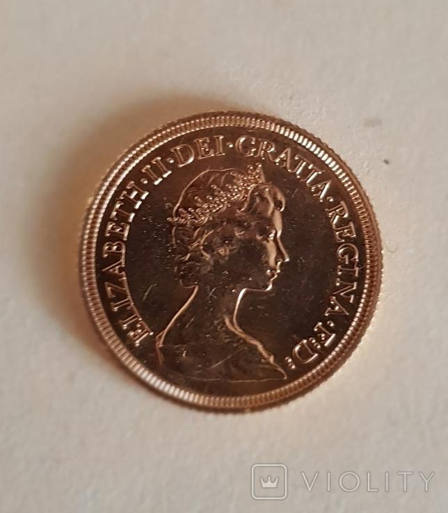 Соверен 1974г. Золото 917пр. 7.99гра, фото №2