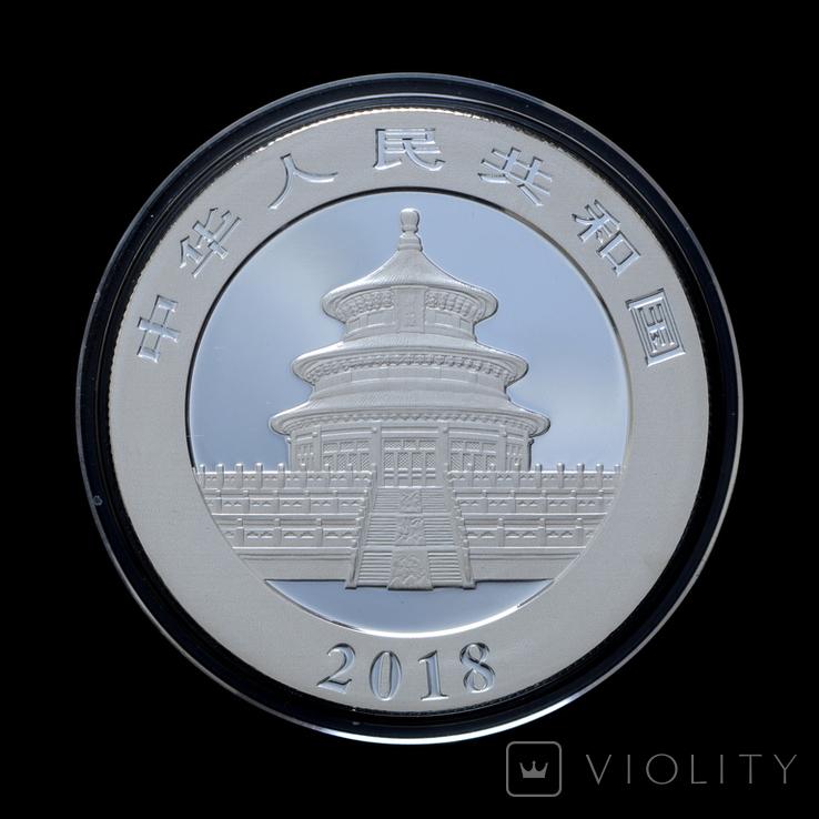 10 Юань 2018 Панда (Серебро 0.999, 30г), Китай в Коробке, фото №3