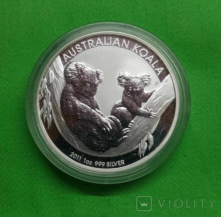 Австралия Доллар Коала Фауна 2011 1 oz, фото №2