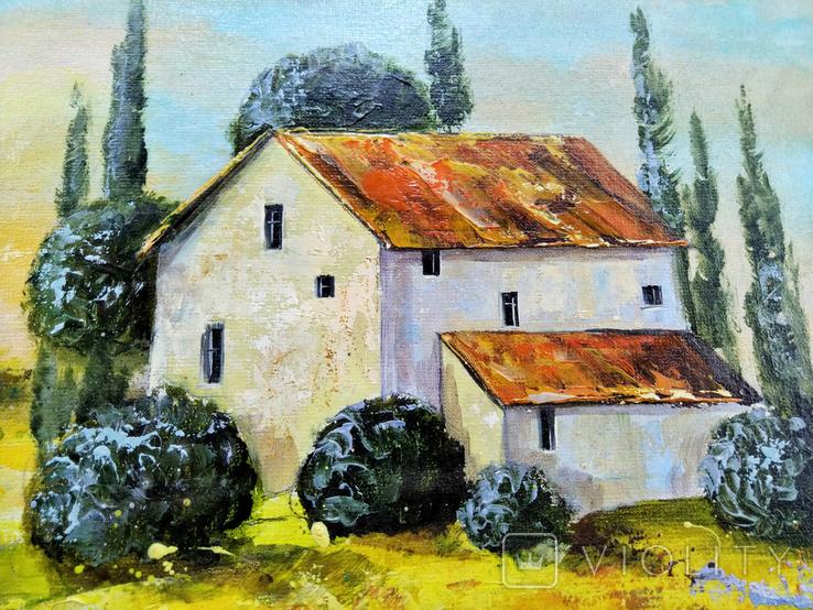 """Картина холст масло """"Тоскана"""" пейзаж в Италии, фото №5"""