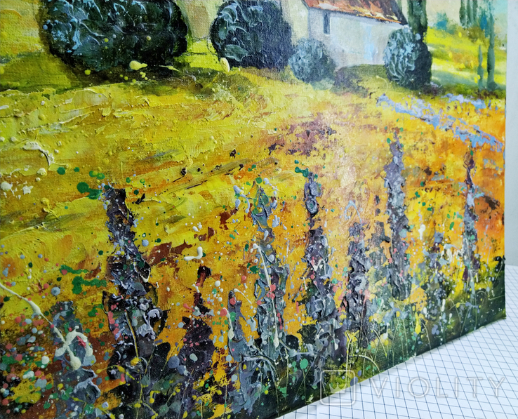 """Картина холст масло """"Тоскана"""" пейзаж в Италии, фото №6"""
