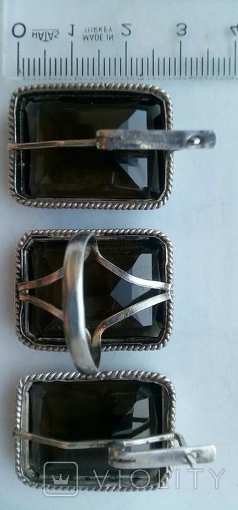 Серьги и кольцо.Серебряный набор., фото №6