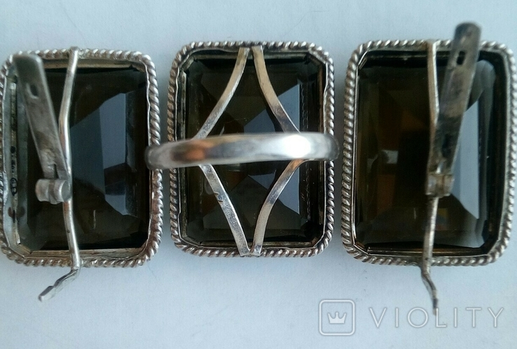Серьги и кольцо.Серебряный набор., фото №7