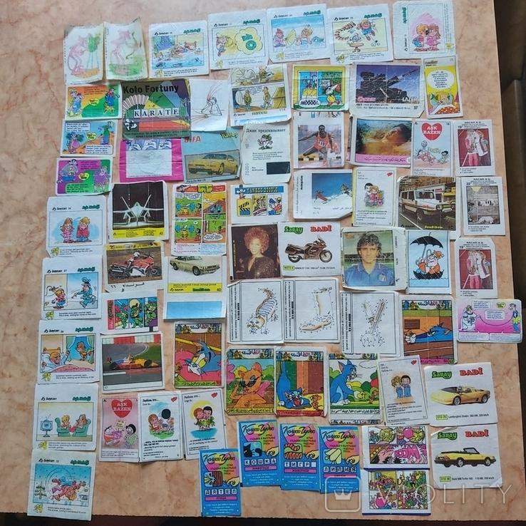 Вкладыши 1993-1998годов, 64 шт, фото №2