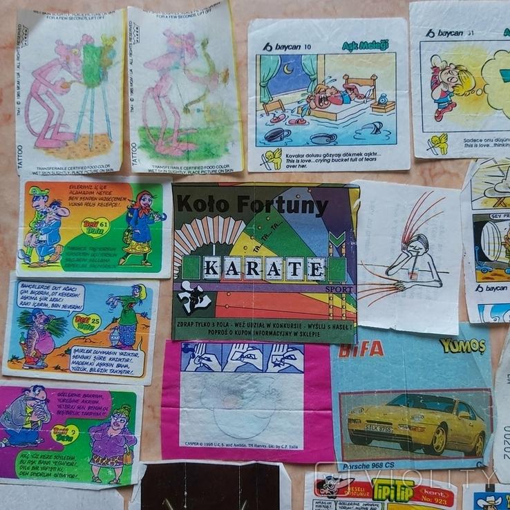 Вкладыши 1993-1998годов, 64 шт, фото №3