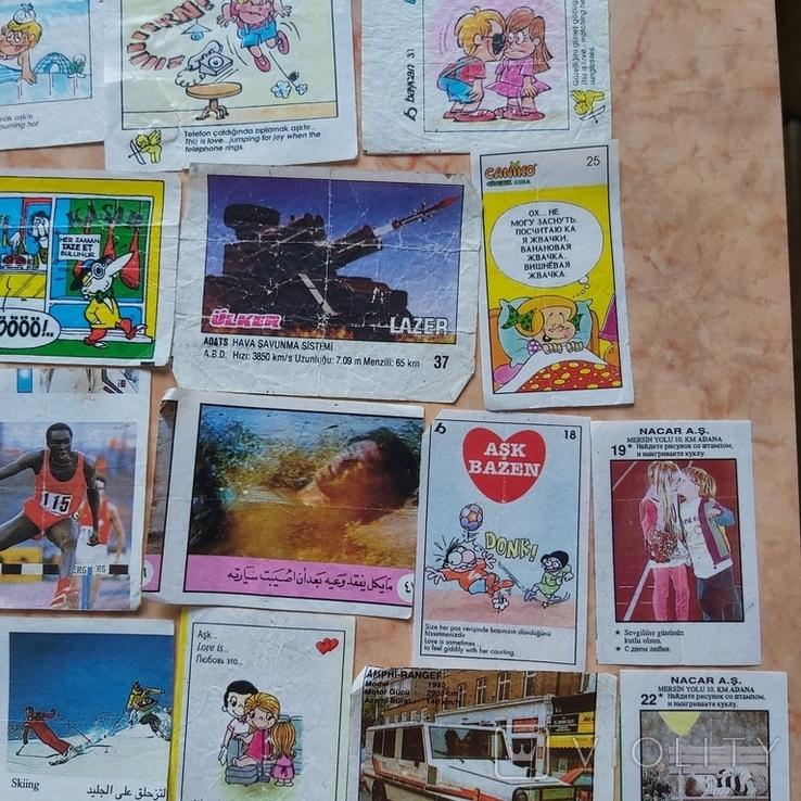 Вкладыши 1993-1998годов, 64 шт, фото №5