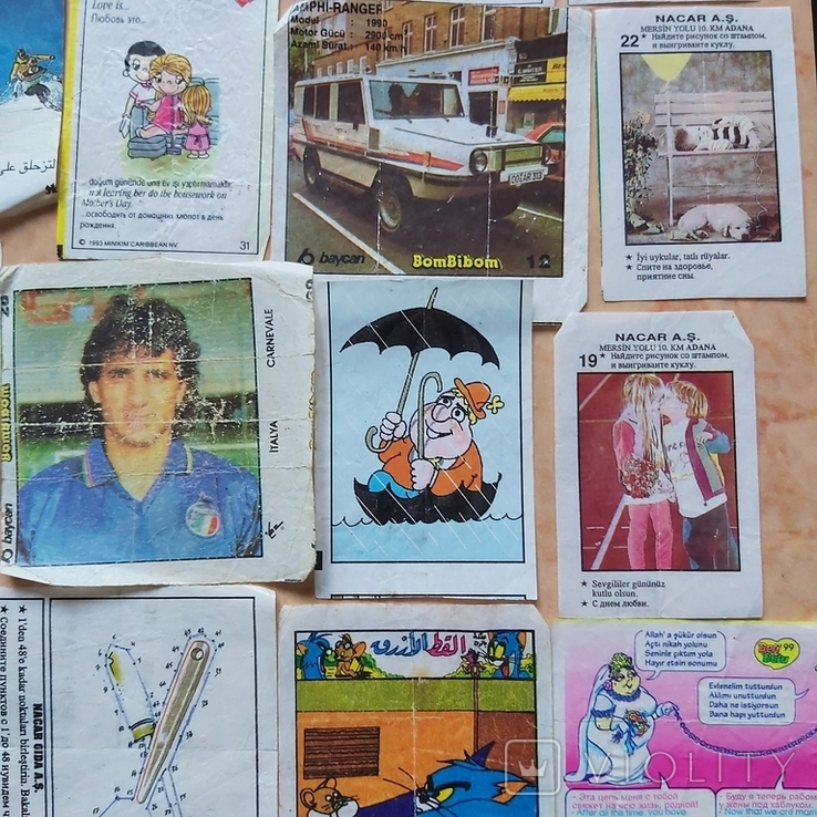 Вкладыши 1993-1998годов, 64 шт, фото №8
