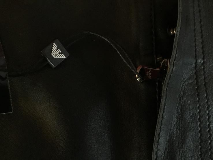 Кожаные шорты Emporio Armani, оригинал, новые, фото №4