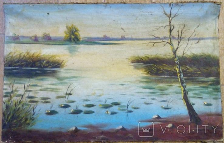 Картинf Утро на пруду , предположительно авторства Ю.Клевер, фото №2