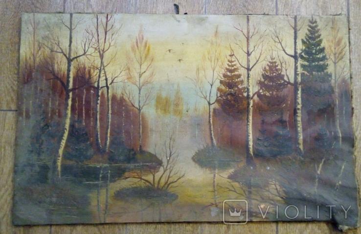 Картина Паводок авторства Ю.Ю. Клевера, фото №2