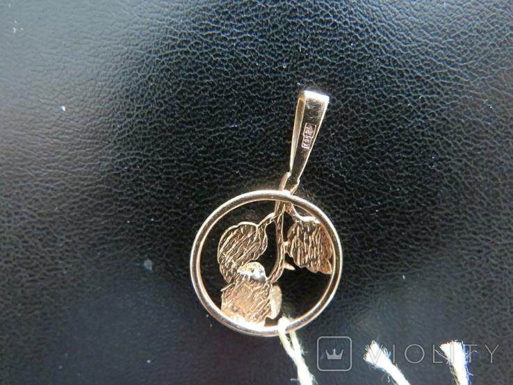 Кулон роза 1.77 грамма золота 583`, фото №4
