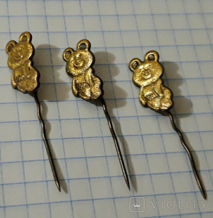 Мишка олимпийский 3 штуки, фото №3