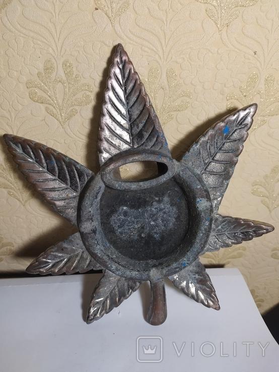 Пепельница лист. 18 х 18 см., фото №5