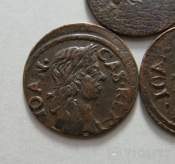 61. Солиды. Боратинки 1661 года. Ян ІІ Казимир Ваза ( 3 штуки )., фото №4