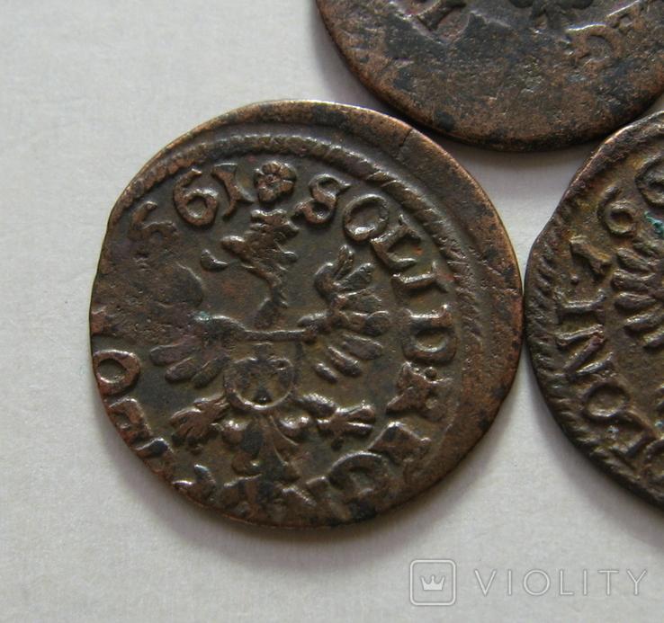 61. Солиды. Боратинки 1661 года. Ян ІІ Казимир Ваза ( 3 штуки )., фото №9