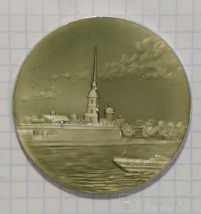 Настольная медаль Петропавловская крепость Ленинград, фото №2