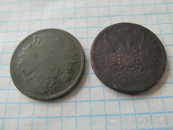 2 коп 1859 г 2 шт разный герб, фото №3