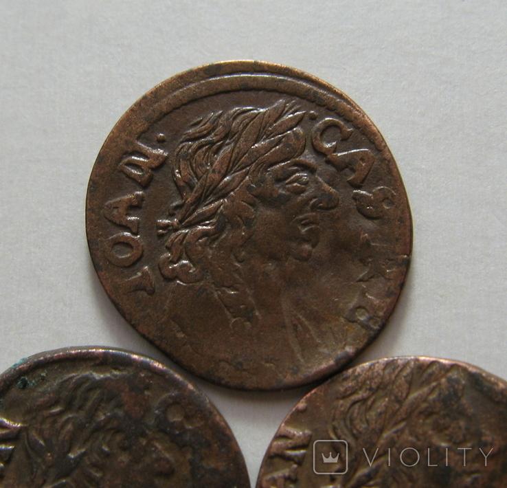 62. Солиды. Боратинки 1661 года. Ян ІІ Казимир Ваза ( 3 штуки )., фото №4